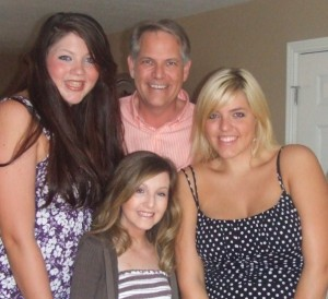 Audrey, Dad, Me and Emily just days after the kidney transplant!