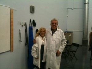 Dr.O'Neill and I in Cord Blood Americas Lab